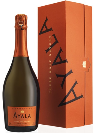 Ayala Cuvee Rose Nature Brut gift box